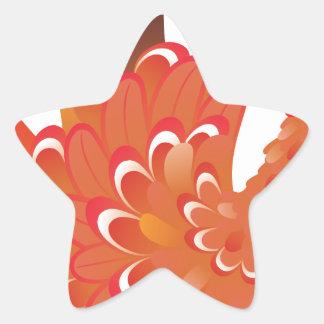 Grunge Hand Chicken 2 Star Sticker