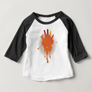 Grunge Hand Chicken Baby T-Shirt