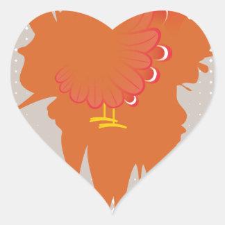 Grunge Hand Chicken Heart Sticker