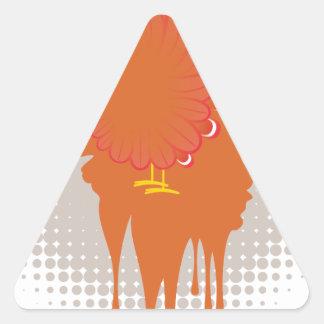 Grunge Hand Chicken Triangle Sticker