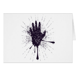 Grunge Hand with Gestures Card