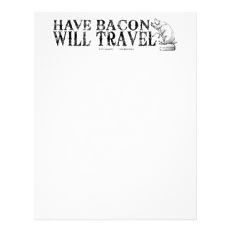 Grunge Have Bacon Will Travel Letterhead