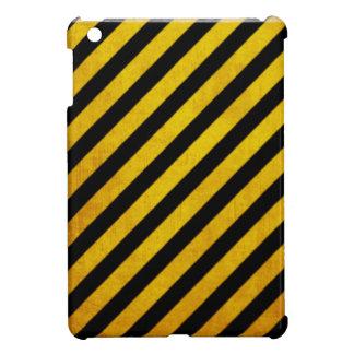 Grunge hazard stripe iPad mini cover