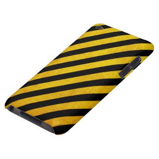 Grunge hazard stripe iPod touch case