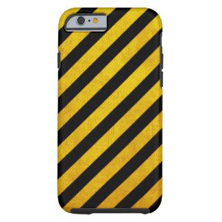 Grunge hazard stripe tough iPhone 6 case