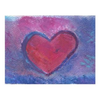 Grunge Heart Postcard