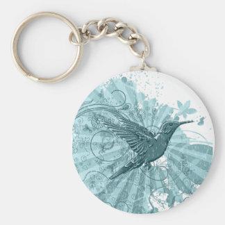 Grunge Hummingbird Keychain