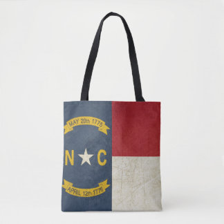 Grunge illustration of North Carolina Tote Bag