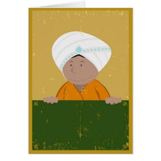 Grunge Indian Cartoon Background Card