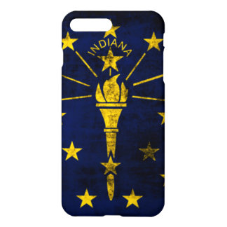 Grunge Indiana Flag iPhone 7 Plus Case