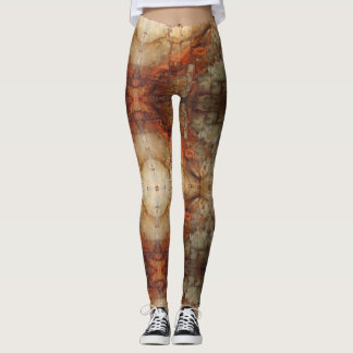 Grunge Industrial Rusted Rivets Leggings