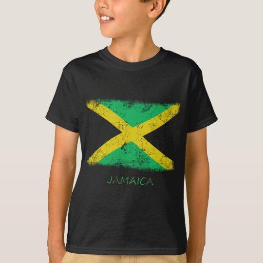 Grunge Jamaica Flag T-Shirt