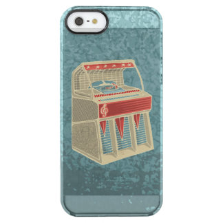 Grunge Jukebox Clear iPhone SE/5/5s Case