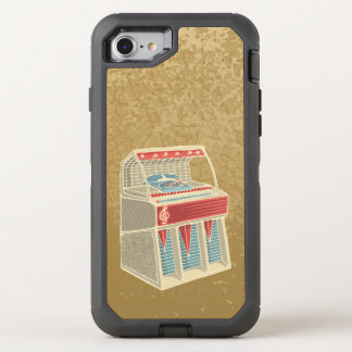 Grunge Jukebox OtterBox Defender iPhone 7 Case