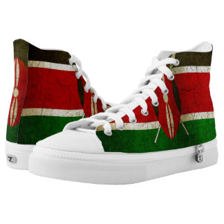Grunge Kenya Flag High Tops