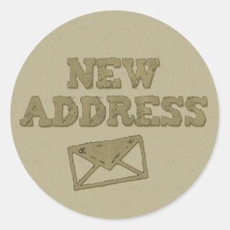 Grunge Khaki Green New Address Envelope Stickers
