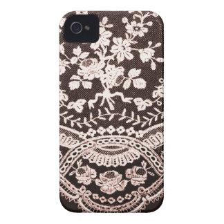 Grunge Lace Fabric iPhone 4 Case-Mate Case