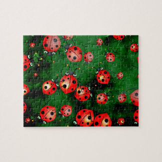 Grunge Ladybugs Jigsaw Puzzle