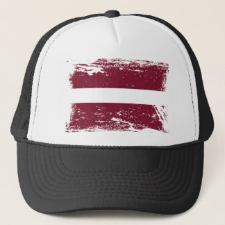 Grunge Latvia Flag Trucker Hat