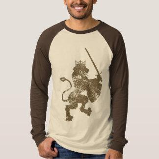 Grunge Lion King Men's Long Sleeve Raglan Shirt