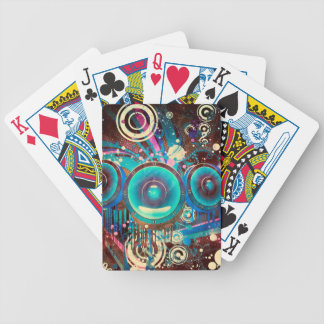 Grunge Loud Speakers 2 Bicycle Playing Cards