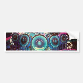 Grunge Loud Speakers 2 Bumper Sticker