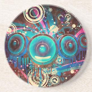 Grunge Loud Speakers 2 Coaster