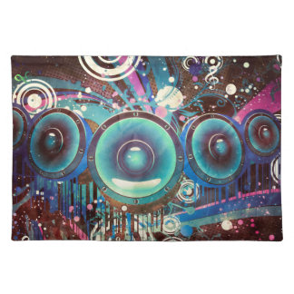 Grunge Loud Speakers 2 Placemat