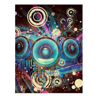 Grunge Loud Speakers 2 Postcard
