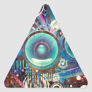 Grunge Loud Speakers 2 Triangle Sticker