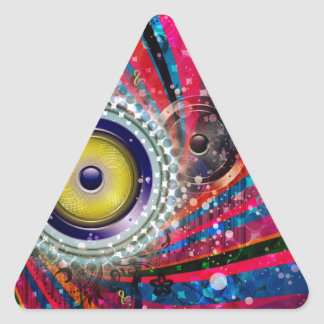 Grunge Loud Speakers Triangle Sticker