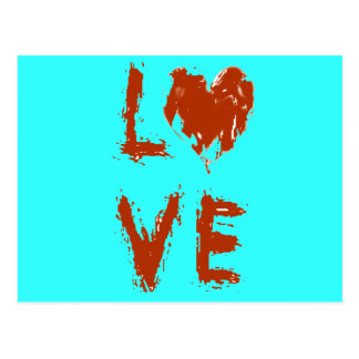 Grunge Love  Heart Postcard