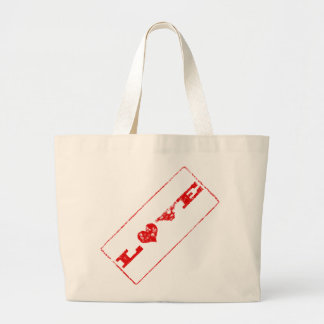 Grunge Love Rubber Stamp Tote Template