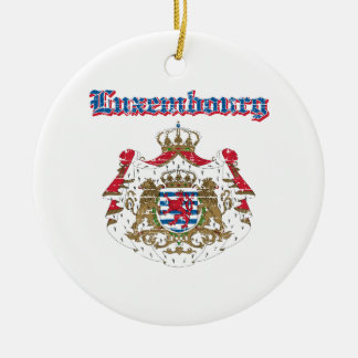 Grunge Luxembourg coat of arms designs Ceramic Ornament