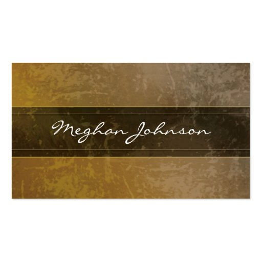Grunge Marble Sepia Trendy Business Card