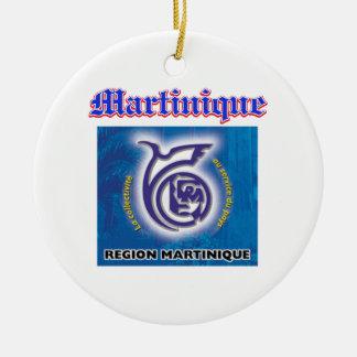 Grunge Martinique coat of arms designs Ceramic Ornament
