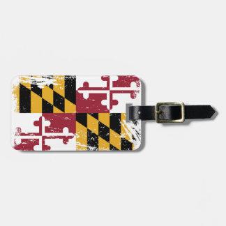 Grunge Maryland Flag Tags For Luggage