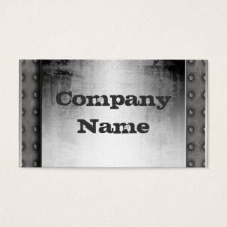 Grunge Metal Business Cards
