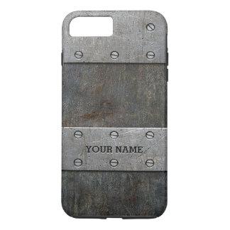 Grunge Metal Look Tough iPhone 7 Plus Case