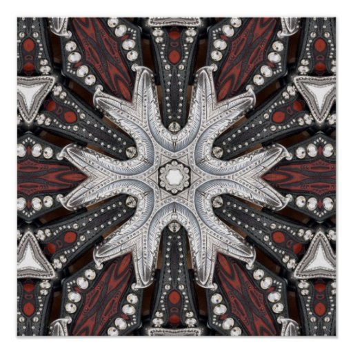 grunge metal studs tooled leather biker posters