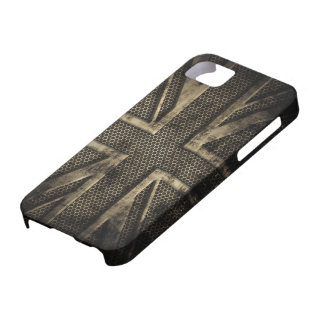 Grunge Metal Union Jack Case For The iPhone 5