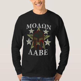 GRUNGE Molon Labe 5 STARS Spartan Helmet T-Shirt