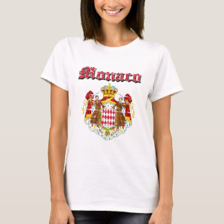 Grunge Monaco coat of arms designs T-Shirt