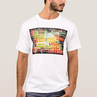 Grunge Music Background T-Shirt