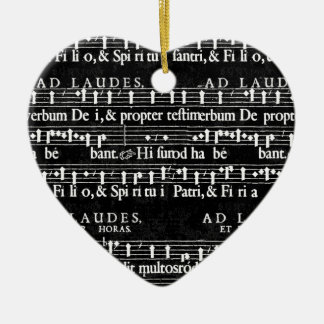 grunge music notes ceramic ornament