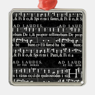 grunge music notes metal ornament