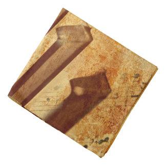Grunge Music Sheet Piano Keys Bandana