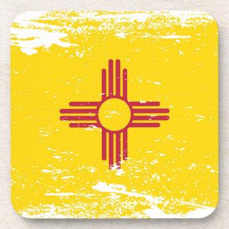 Grunge New Mexico Flag Coaster