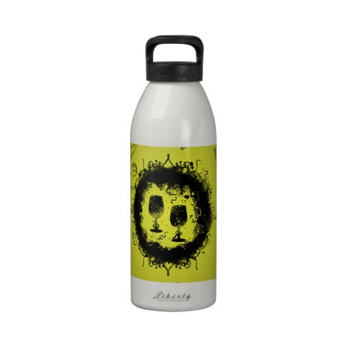 Grunge New Years Eve Water Bottles