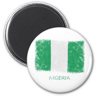 Grunge Nigeria Flag Magnet